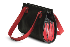 Handtasche Black and Red Tulip
