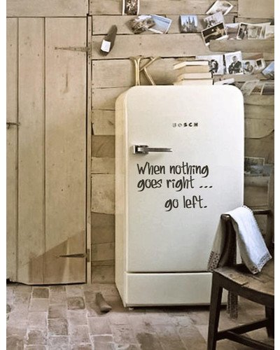 WHEN NOTHING GOES RIGTH GO LEFT Wandsticker  |  | Artikelnummer: 68340971