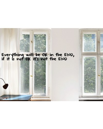 EVERYTHING WILL BE OK Wandsticker Spruch  |  | Artikelnummer: 92821623