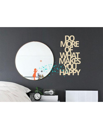 Wandsticker DO MORE OF WHAT MAKES YOU HAPPY Spruch  |  | Artikelnummer: 73470187