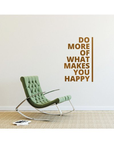 Wandsticker Spruch DO MORE OF WHAT MAKES YOU HAPPY  |  | Artikelnummer: 87596423