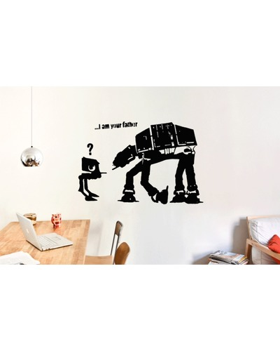 BANKSY I AM YOUR FATHER Streetart Wandtattoo  |  | Artikelnummer: 70215939 2