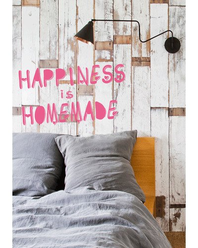 Wandsticker HAPPINESS IS HOMEMADE Typo Schriftzug |  | Artikelnummer: 55802531