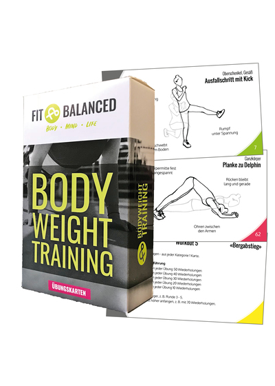 Fitness Bodyweight Training Cards Trainingskarten für zuhause