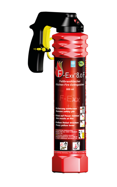 F-Exx 8.o F | The big grease fire extinguisher - For grease fires up to 40 litres | Artikelnummer: 1-570-000-00-17