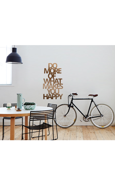DO MORE OF WHAT MAKES YOU HAPPY Wandtattoo Spruch  |  | Artikelnummer: 55801143