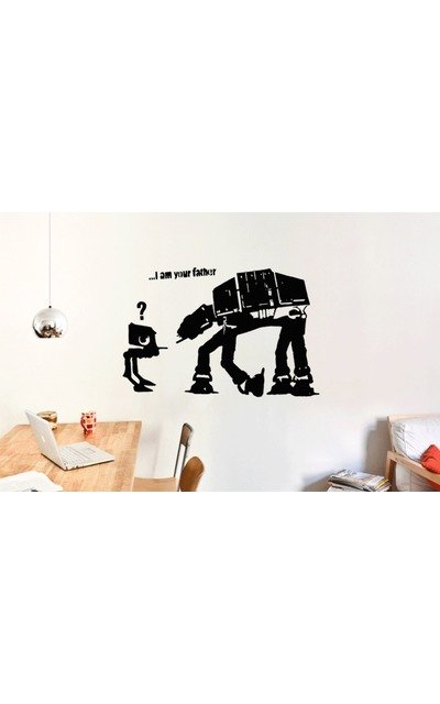 BANKSY I AM YOUR FATHER Streetart Wandtattoo  |  | Artikelnummer: 70215939 1