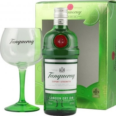 Tanqueray London Dry Gin mit Copa Glas