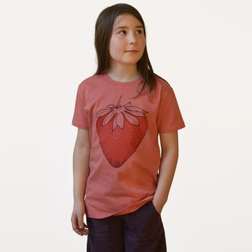 Jordgubbe T-Shirt | mid heather red | artikelnummer: Cmig362