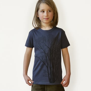 Erle mit Elster T-Shirt 98/104 | india ink grey | Artikelnummer: Cmig364
