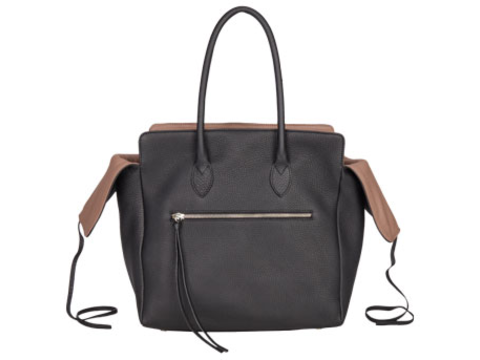 Kate | Day Bag Stierleder schwarz M | Artikelnummer: NB 203-6