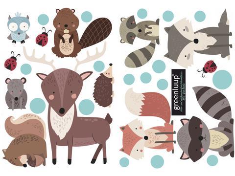 Wandaufkleber Tiere Kinderzimmer Greenluup