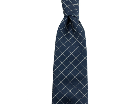 Three-Fold-Tie Navy Chriscross | Artikelnummer: 6000