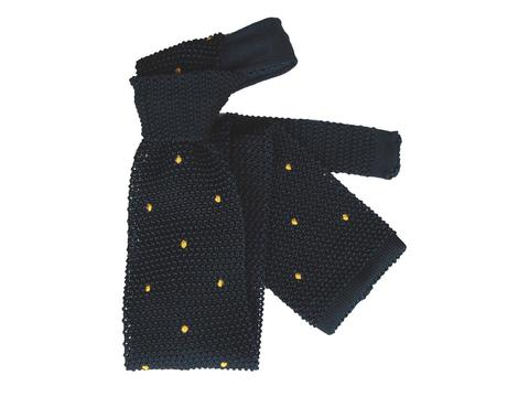 Strickkrawatte Yellow Dots | Artikelnummer: 5002