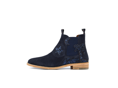 JULIA Beach Navy | Chelsea Boot. Velours Leder. Urlaubsstimmung. | Artikelnummer: Torrent13353951