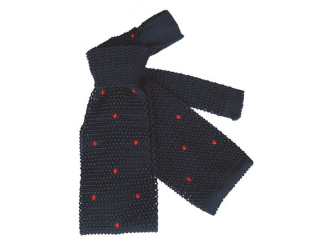 Strickkrawatte Red Dots | Artikelnummer: 5004