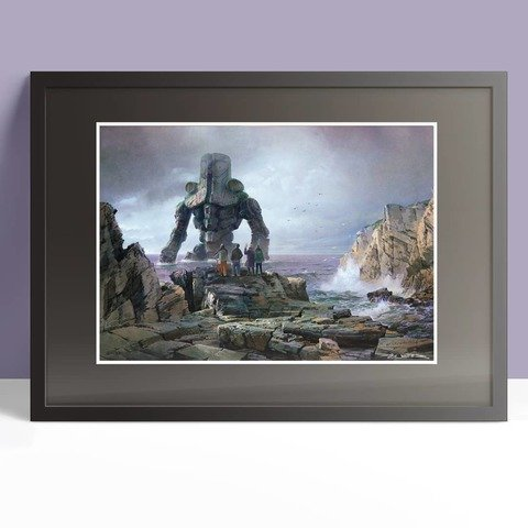 Cherno Alpha at Rocky Coast Print framed A3