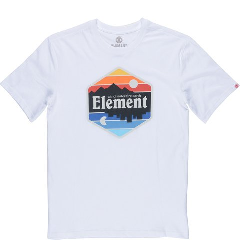 Element Dusk Herrenshirt T-Shirt optic white