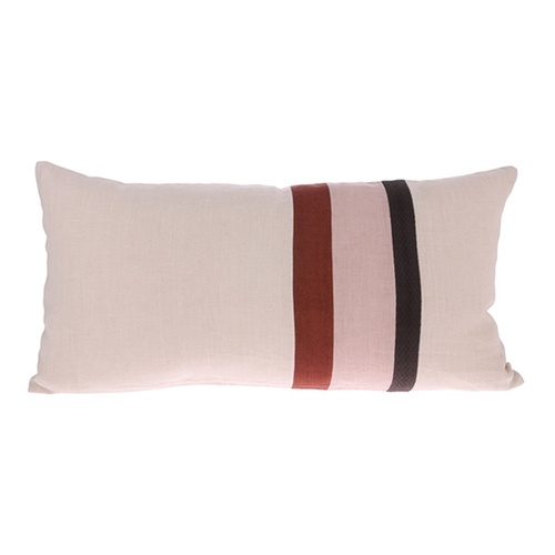 HK LIVING Kissen - linen striped 70x35cm