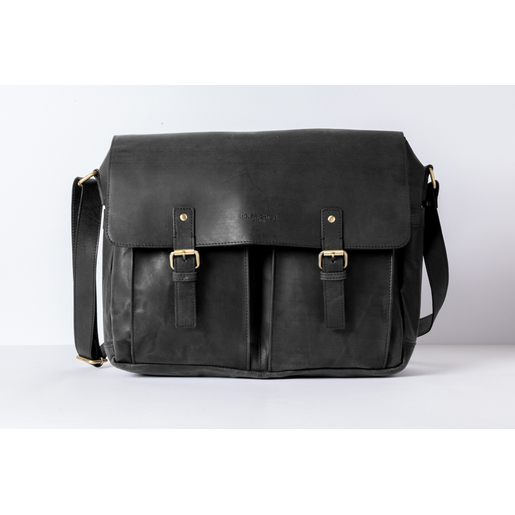 Messenger Bag (M) | Anthracite-Black | Artikelnummer: HR-SA-4-1_b