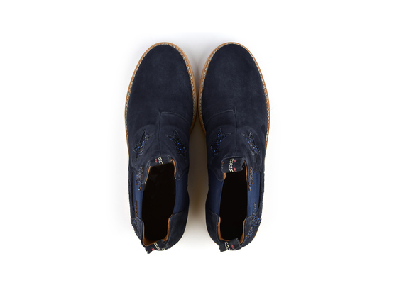 JULIA Beach Navy | Chelsea Boot. Velours Leder. Urlaubsstimmung. | Artikelnummer: Torrent13353951_36