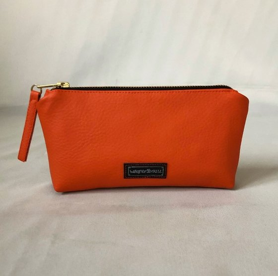 Pencil Case Necessaire Orange Jaguar Gold