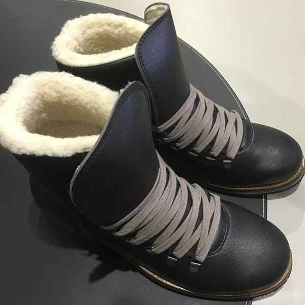 VEGETARIAN SHOES Winterstiefel CARIBOU BOOT black