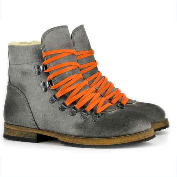 VEGETARIAN SHOES Winterstiefel CARIBOU BOOT grey