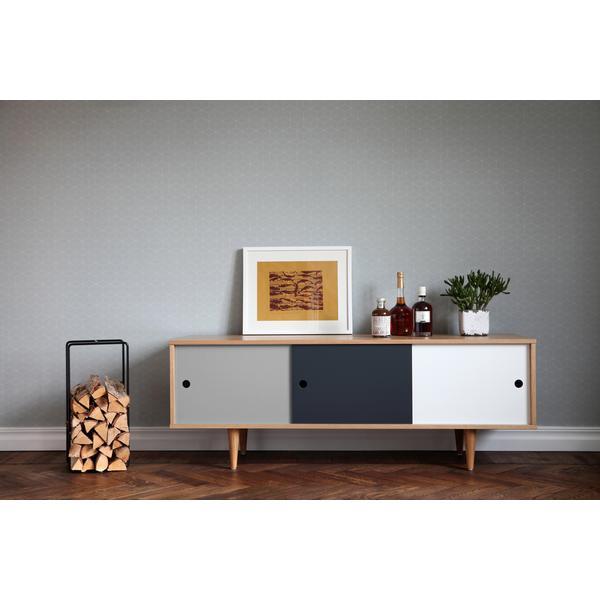 sideboard mit schiebet ren skandinavisch. Black Bedroom Furniture Sets. Home Design Ideas