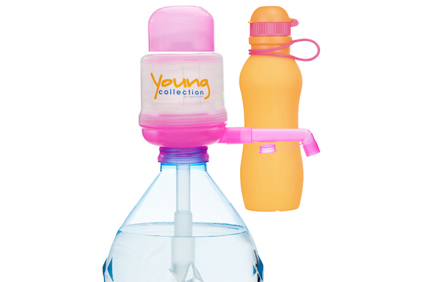 Paquet Special SP  1 pink 700 orange |  1 Pump Young Collection pink plus Viv Bouteile 700 ml orange | numéro d'article: 1 YCP plus VIV SP 700  orange