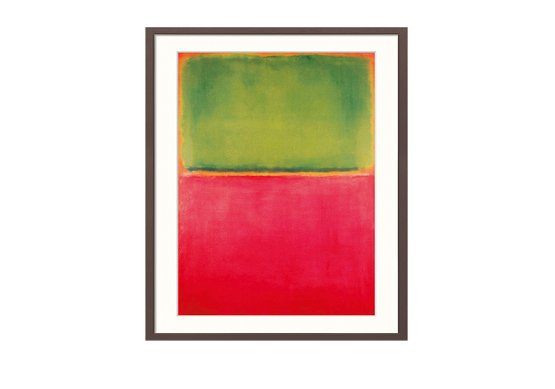 "Wandbild ""Green Red on Orange"" von Mark Rothko"