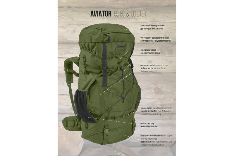 brandit aviator 80 oliv. Black Bedroom Furniture Sets. Home Design Ideas