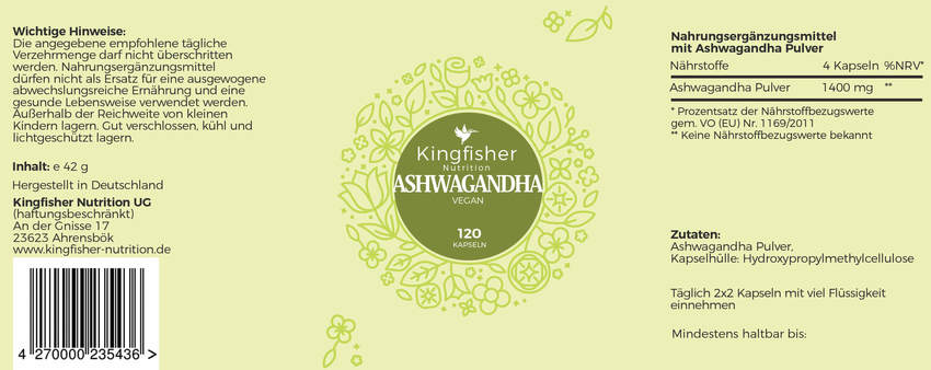 Ashwagandha Label