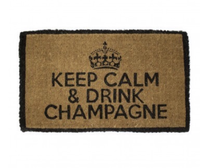 "Fußmatte ""Keep Calm & Drink Champagne"""