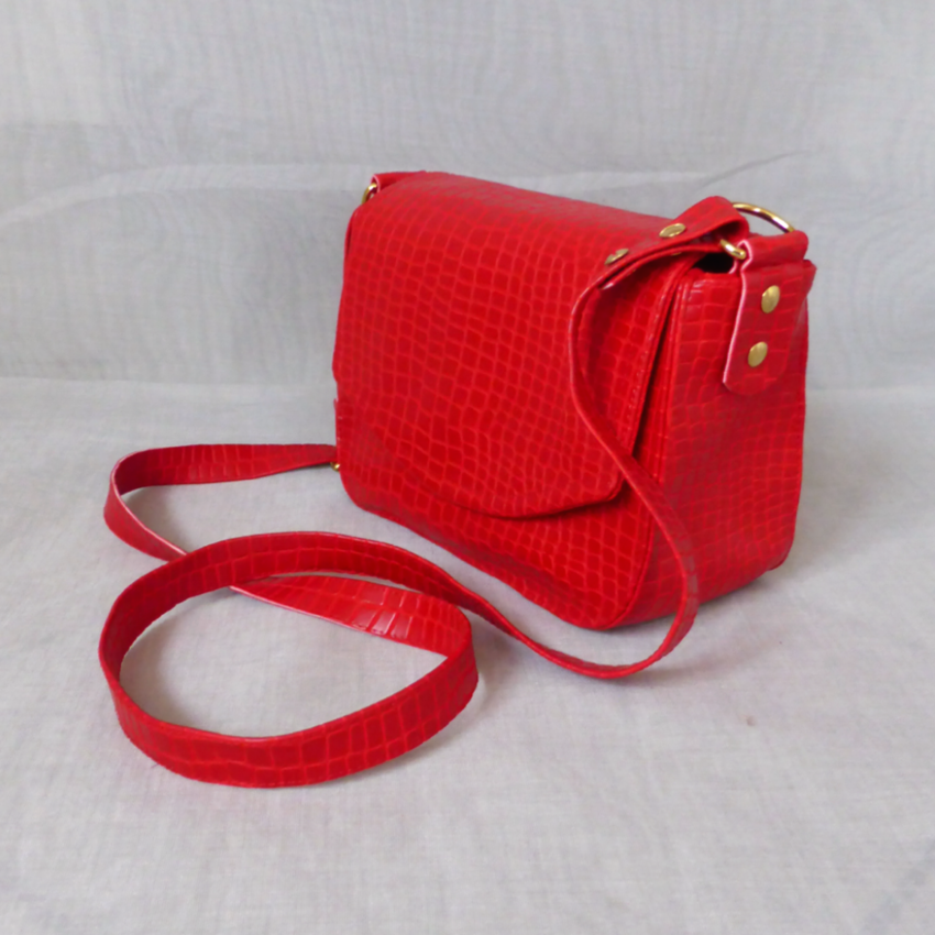 Schulter- Crossbody Tasche Python Flame Red