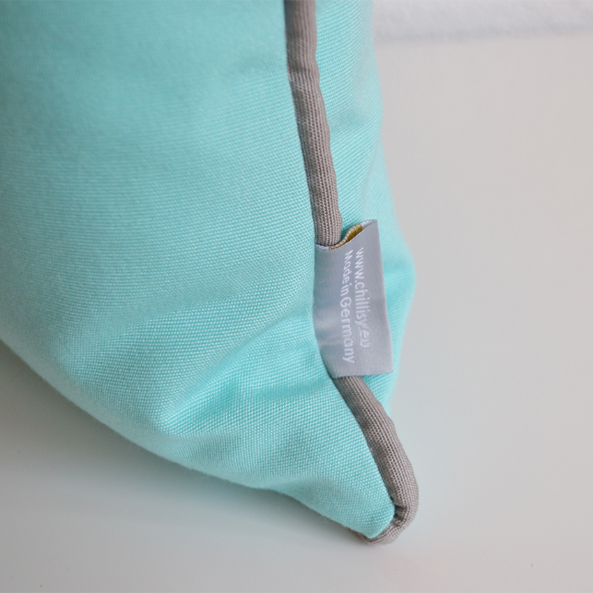 Yachtcushion with Eyelet, Mint Green with gray piping, Premium Collection Princess Classic (ODPRMG-19) – YachtsCushion Collection Princess Classic Cushion