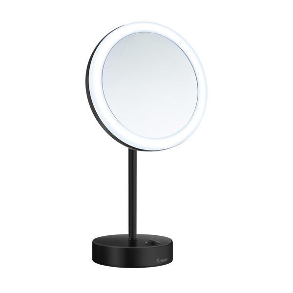 smedbo kosmetikspiegel outline 5 fach led standmodell. Black Bedroom Furniture Sets. Home Design Ideas