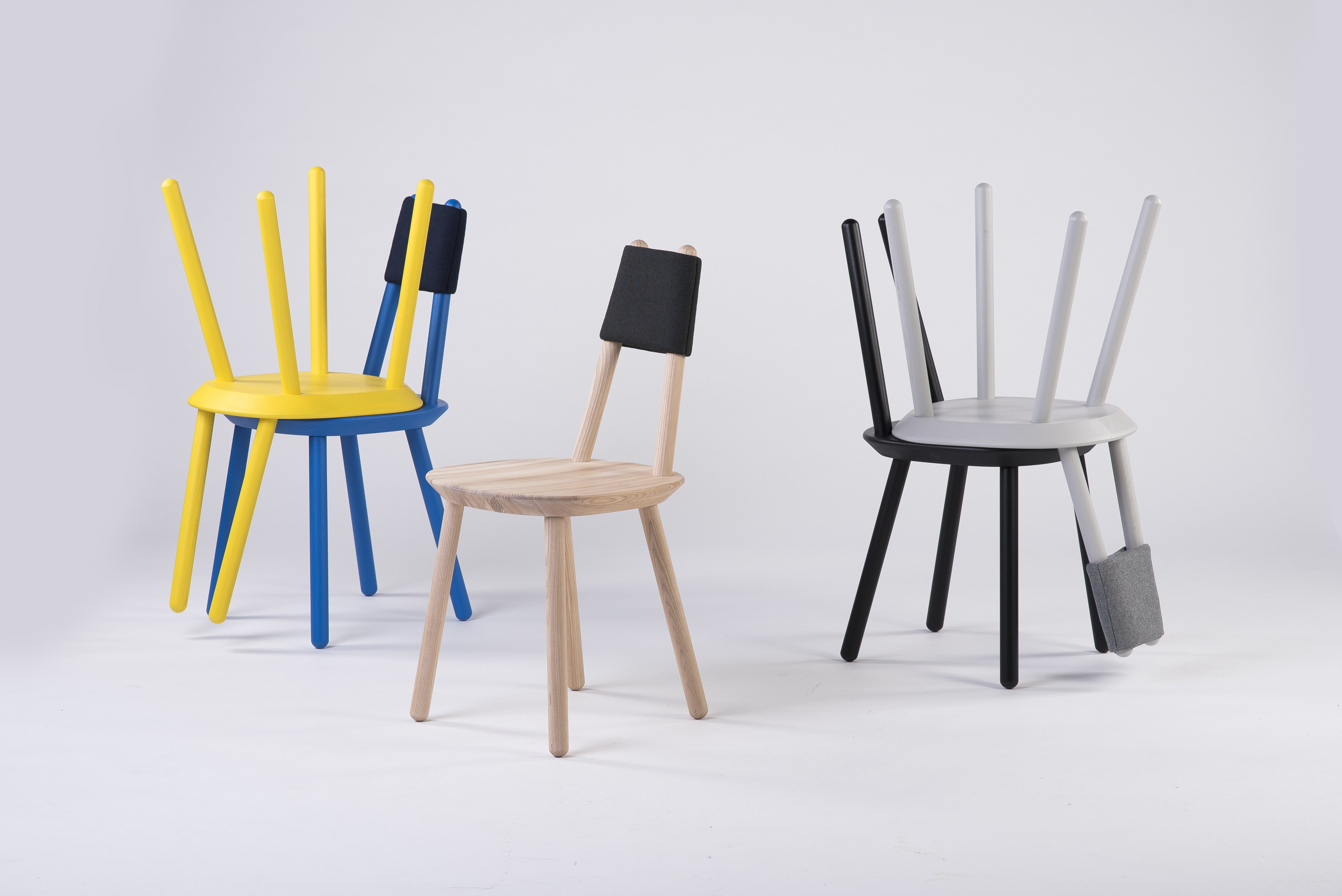Designer-Stuhl Naive aus Massivholz - Schwarz - EMKO