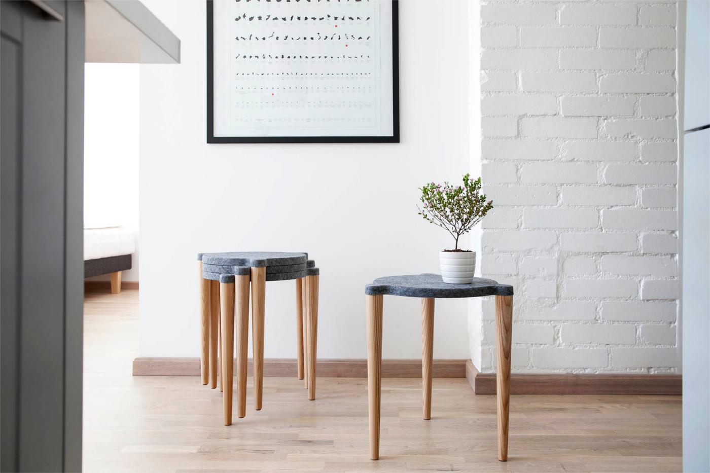 4er set holzhocker im scandi style jetzt online kaufen - Esszimmerstuhle 4er set ...