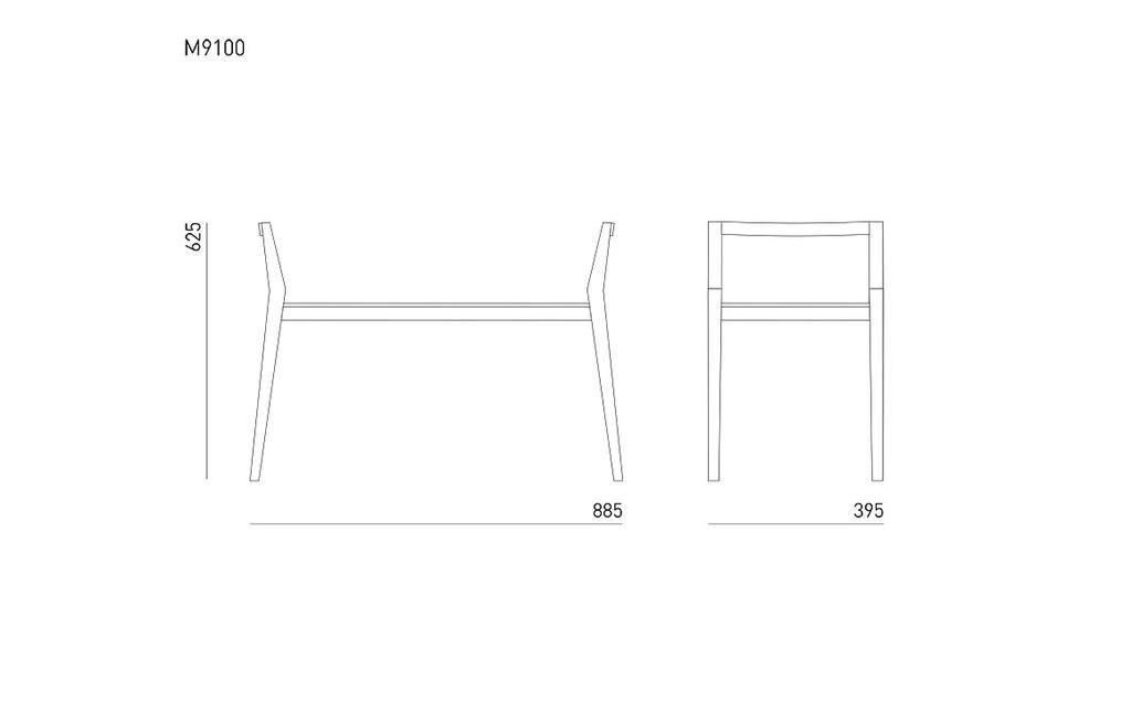 sitzbank aus massivem nussbaum holz mint furniture. Black Bedroom Furniture Sets. Home Design Ideas