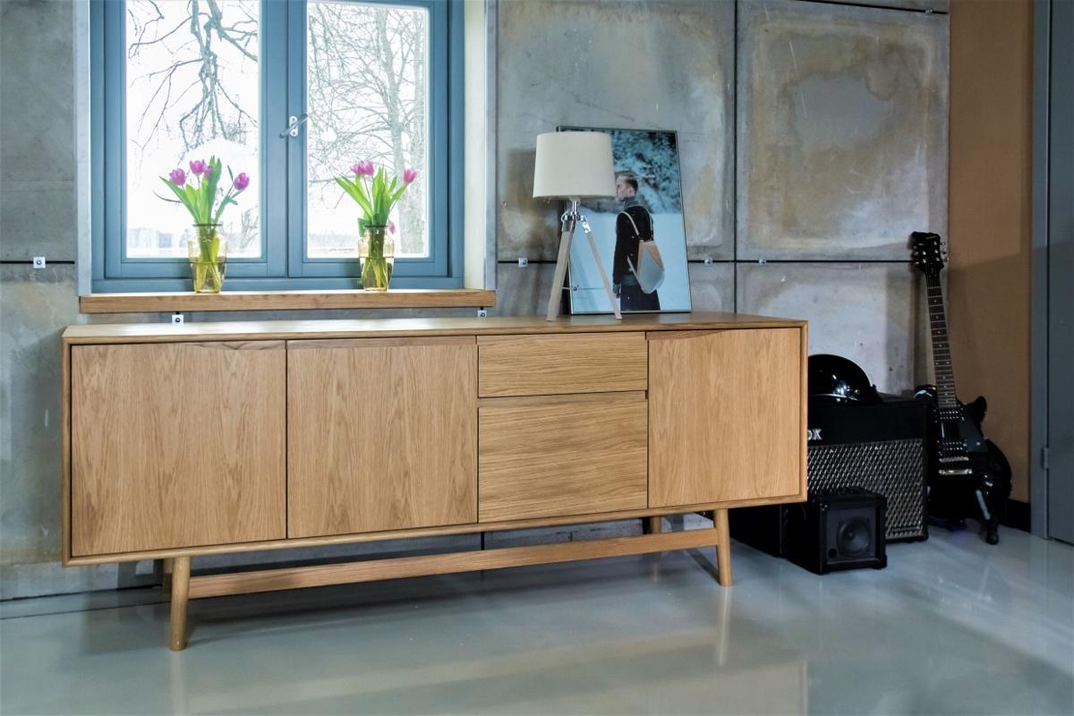 Sideboard aus Eichenholz - Mid-Century-Design